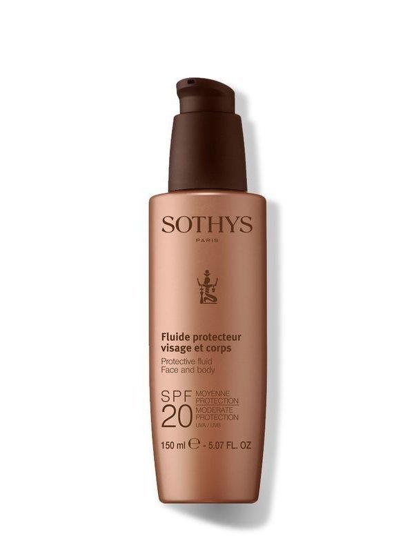 Soins solaires Fluide visage et corps SPF 20 150 ml